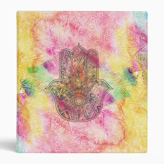 HAMSA Hand of Fatima symbol amulet Henna floral Vinyl Binders