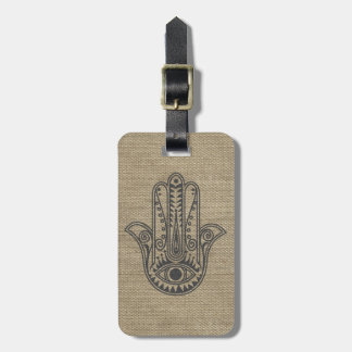 HAMSA Hand of Fatima symbol amulet Luggage Tag