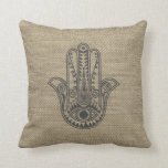 HAMSA Hand of Fatima symbol amulet Throw Pillow