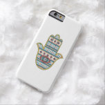 HAMSA Hand of Fatima symbol amulet, tribal Aztec Barely There iPhone 6 Case
