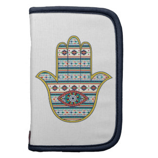 HAMSA Hand of Fatima symbol amulet, tribal Aztec Folio Planners