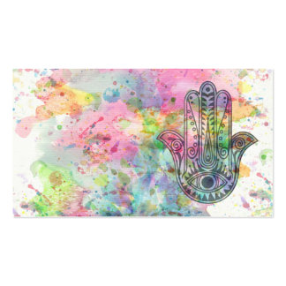 HAMSA Hand of Fatima symbol Double-Sided Standard Business Cards (Pack Of 100)