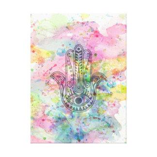 HAMSA Hand of Fatima symbol Canvas Print