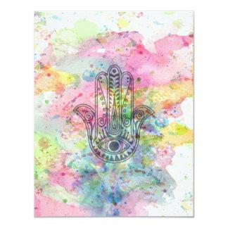 HAMSA Hand of Fatima symbol Card