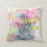 HAMSA Hand of Fatima symbol Pillows