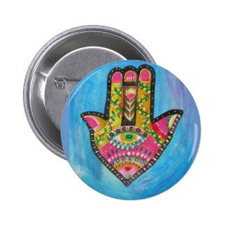 Hamsa Hand painting Button
