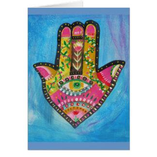 Hamsa Hand painting Greeting Cards