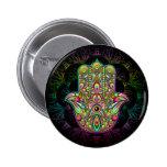 Hamsa Hand Psychedelic Art 2 Inch Round Button
