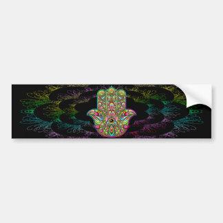 Hamsa Hand Psychedelic Art Bumper Sticker