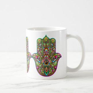 Hamsa Hand Psychedelic Art Coffee Mug