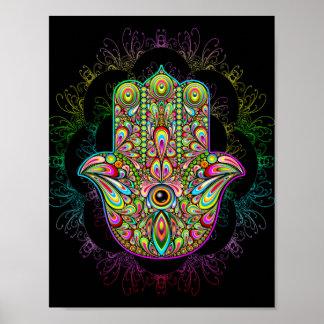 Hamsa Hand Psychedelic Art Poster