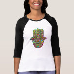 Hamsa Hand Psychedelic Art Tee Shirt