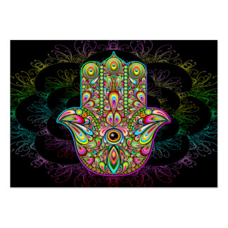 Hamsa Hand Psychedelic Large Business Card