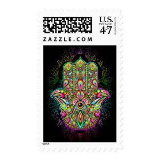 Hamsa Hand Psychedelic Stamp