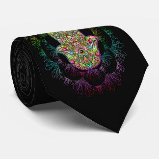 Hamsa Hand Psychedelic Tie