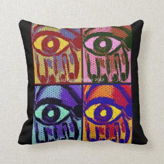 Hamsa Hands Evil Eye Pillow by Katie Pfeiffer