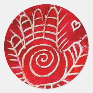 Hamsa / Healing Hand / Hand of Fatima Classic Round Sticker