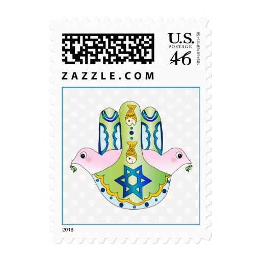 Hamsa judaica postage stamp