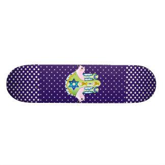 Hamsa judaica skateboard deck