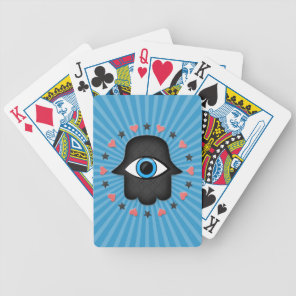 hamsa khamsa Eye in hand of the goddess Bicycle Playing Cards