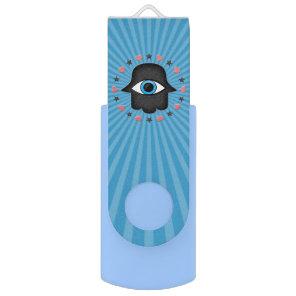 hamsa khamsa Eye in hand of the goddess Flash Drive