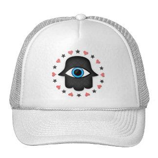 hamsa khamsa Eye in hand of the goddess Mesh Hats