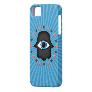hamsa khamsa Eye in hand of the goddess iPhone SE/5/5s Case