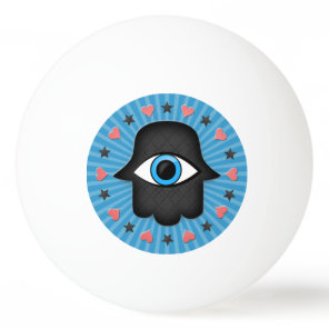 hamsa khamsa Eye in hand of the goddess Ping-Pong Ball
