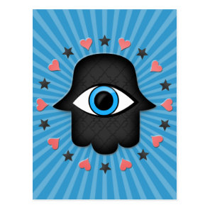 hamsa khamsa Eye in hand of the goddess Postcard