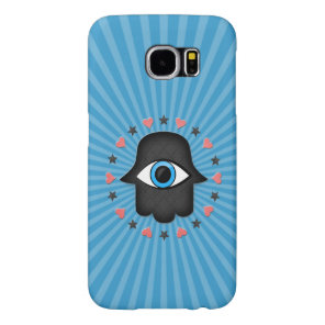 hamsa khamsa Eye in hand of the goddess Samsung Galaxy S6 Case