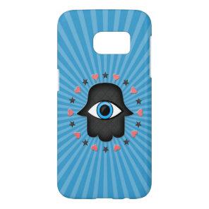 hamsa khamsa Eye in hand of the goddess Samsung Galaxy S7 Case