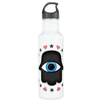 hamsa khamsa Eye in hand of the goddess Stainless Steel Water Bottle