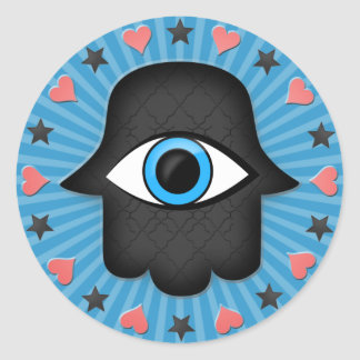 hamsa khamsa Eye in hand of the goddess Stickers