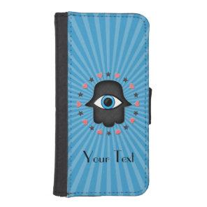 hamsa khamsa Eye in hand of the goddess Wallet Phone Case For iPhone SE/5/5s