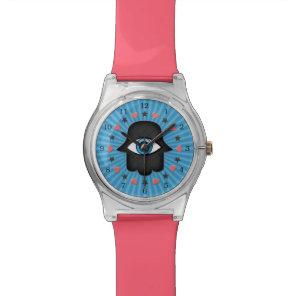 hamsa khamsa Eye in hand of the goddess Wrist Watch