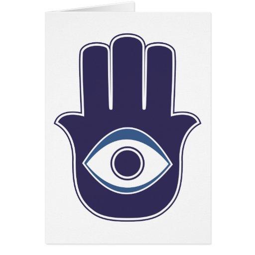 Hamsa / Khamsa Hand of Fatima / Mary Amulet / Luck Card