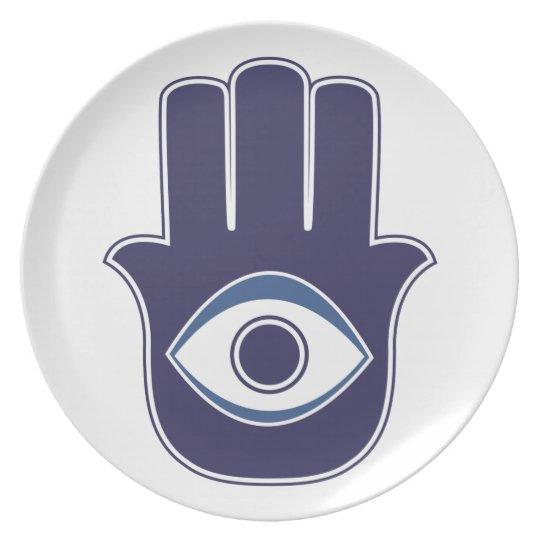 Hamsa / Khamsa Hand of Fatima / Mary Amulet / Luck Melamine Plate