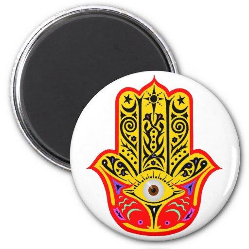 Hamsa - Magic Hamsa 2 Inch Round Magnet