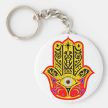 Hamsa - Magic Hamsa Basic Round Button Keychain