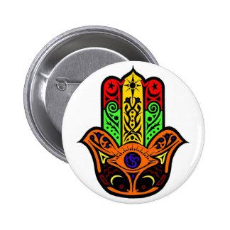 HAMSA multi color Pinback Button