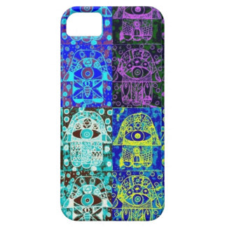 Hamsa negro y azul iPhone 5 Case-Mate protector