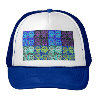 Hamsa negro y azul gorra