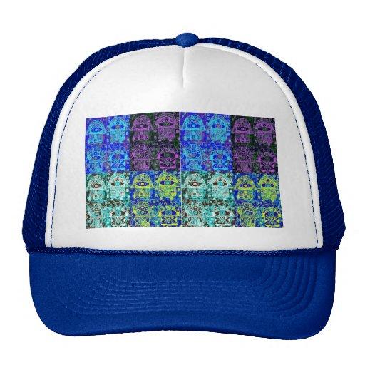 Hamsa negro y azul gorras de camionero