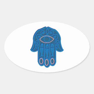Hamsa Symbol Oval Sticker
