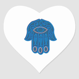 Hamsa Symbol Heart Sticker