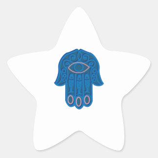 Hamsa Symbol Star Sticker
