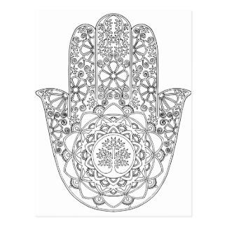 Hamsa Tree of Life Postcard