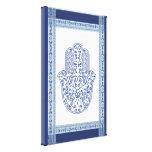 hamsa*tunis*morocco*henna*blue impresión en lona