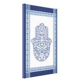 hamsa*tunis*morocco*henna*blue lienzo envuelto para galerías