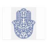 hamsa*tunis*morocco*henna*blue post card